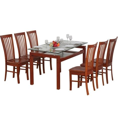Bộ bàn ăn bằng gỗ nhưng lại mang lại sự trẻ trung – kí hiệu: TB09