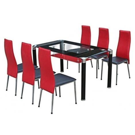 Bộ bàn ăn hình chữ nhật Hòa Phát B64 + G64