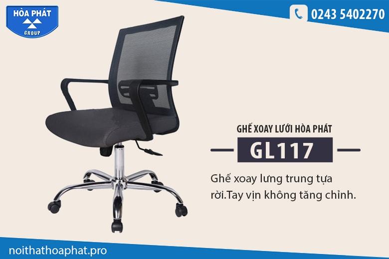 Ghế lưới văn phòng Hòa Phát GL117