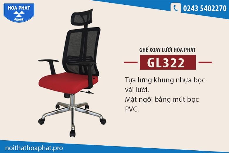 Ghế lưới văn phòng Hòa Phát GL322