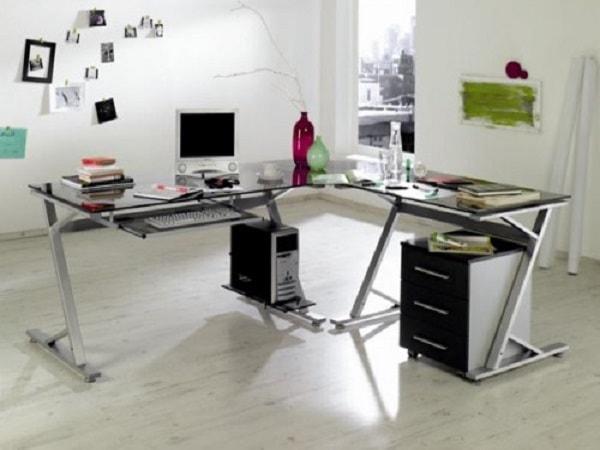 Các mẫu bàn làm việc bằng kính cho văn phòng hiện đại
