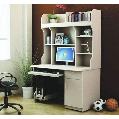 Bàn máy tính khung gỗ Hòa Phát liền giá ATB02