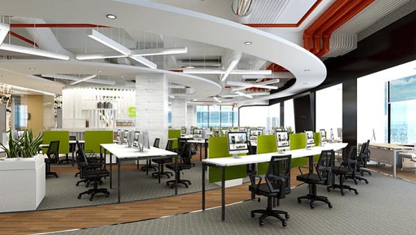 Bật mí một số mẹo trong thiết kế văn phòng không gian mở