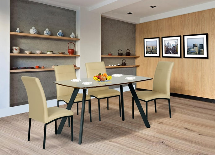 Bộ bàn ghế ăn Hòa Phát gồm 1 bàn B50 + 4 ghế G50