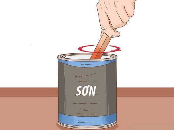 Công đoạn pha chế sơn PU