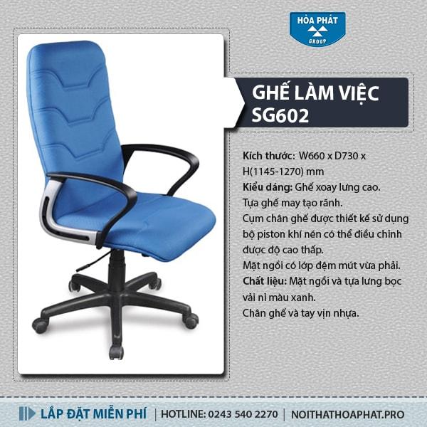 Ghế văn phòng Hòa Phát SG602
