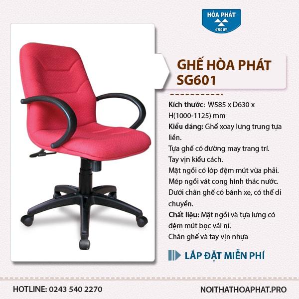 Ghế xoay nhân viên Hòa Phát SG601
