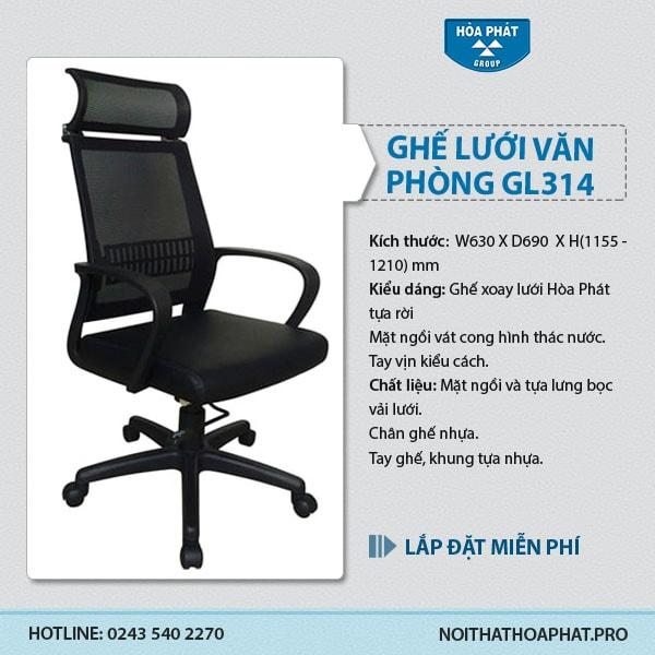 Ghế lưới cao cấp Hòa Phát GL314