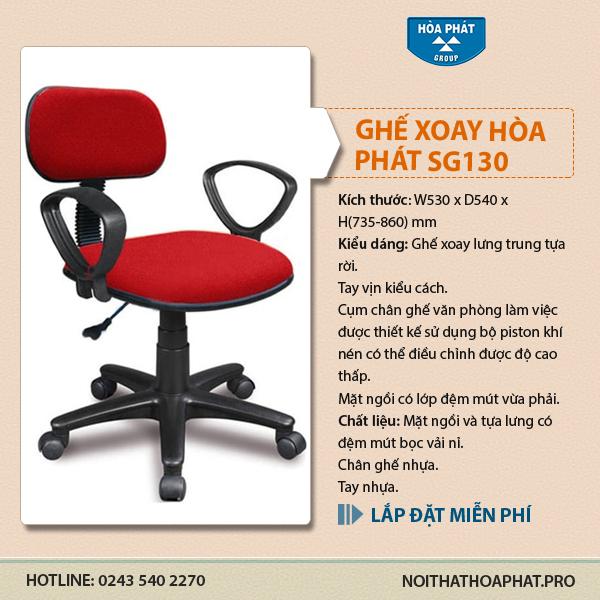 Ghế xoay nhân viên văn phòng Hòa Phát SG130 giá hơn 400k