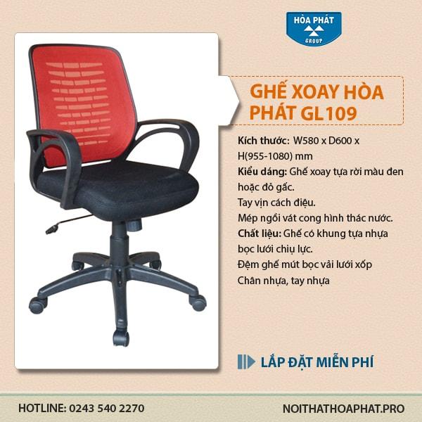 Ghế lưới cao cấp Hòa Phát GL109 giá tốt