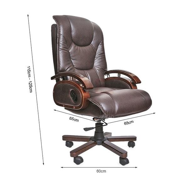 Ghế giám đốc thường có tiêu chuẩn về kích thước riêng