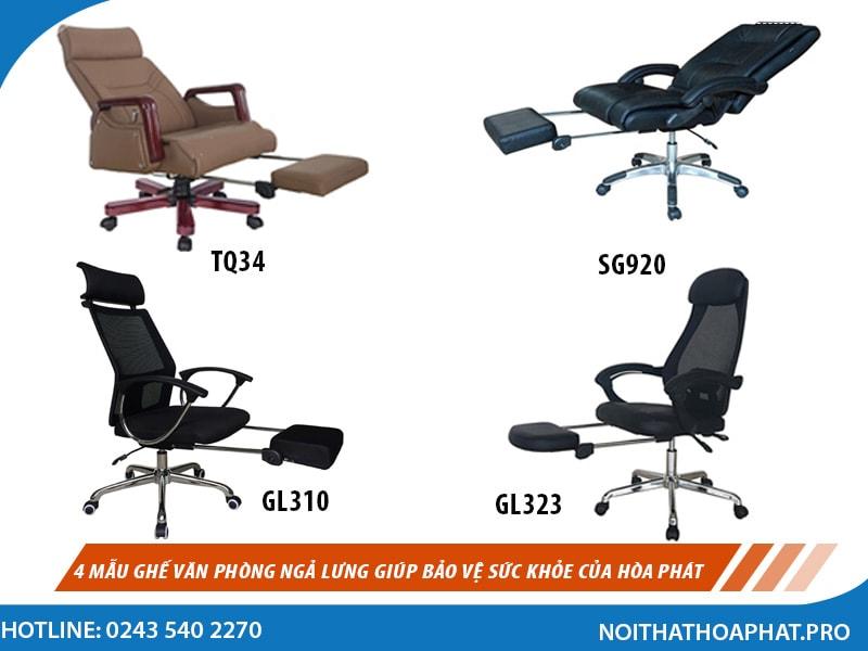 Top 4 mẫu ghế văn phòng ngả lưng giúp bảo vệ sức khỏe của ...