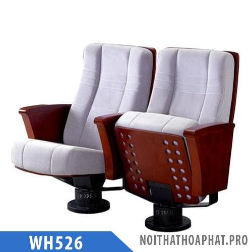 WH526 - Ghế hội trường nhập khẩu chân trụ, không có bàn viết